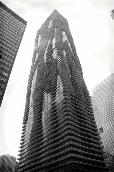 city-scape-Chicago-Aqua-Tower