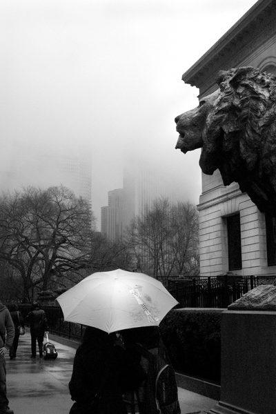city-scape-Chicago-Rain