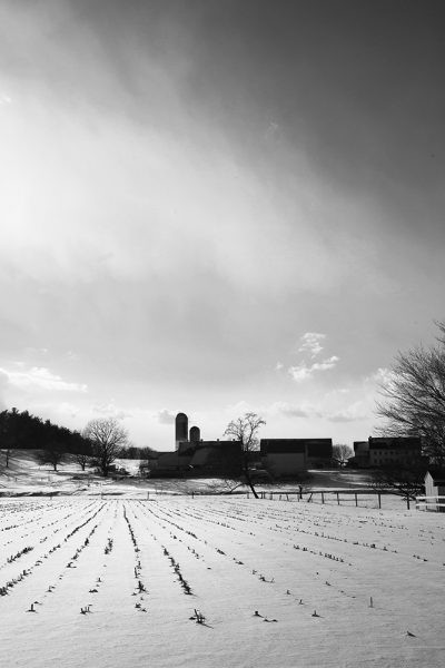 rural-scape-Snow-Furrows